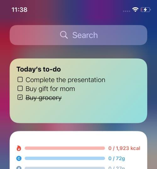 Memo Widget for iOS 14 home screen