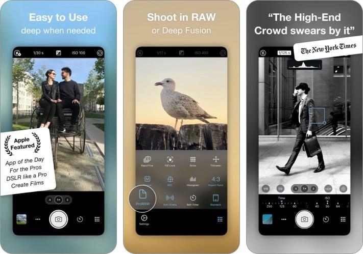 Pro Camera iPhone camera app screenshot