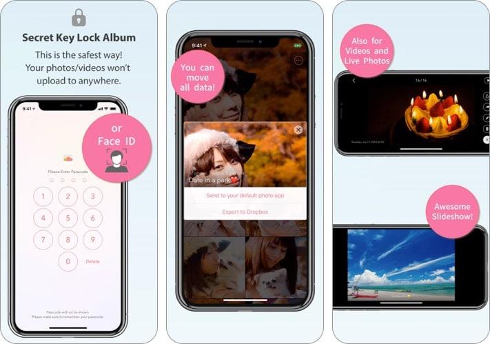 Secret-Lock-Key-Album-best-photo-vault-app-for-iPhone