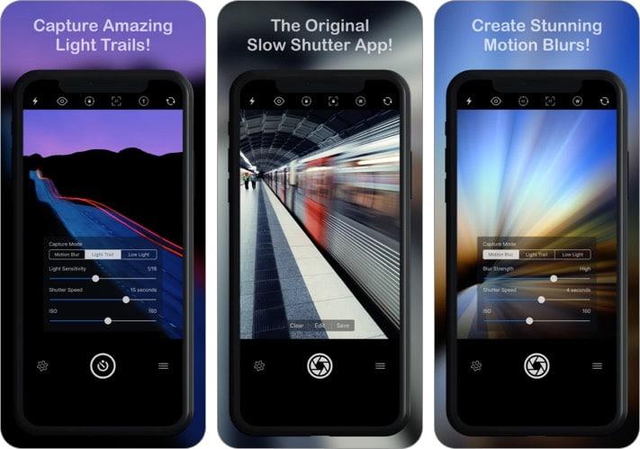 Slow Shutter Cam iPhone camera app screenshot