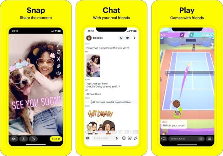 snapchat best facebook alternative for iPhone and iPad