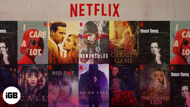 Thriller Movies on Netflix to watch