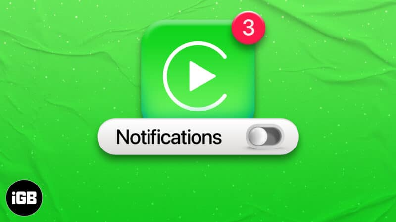 Turn off Apps Notifications in Apple CarPlay