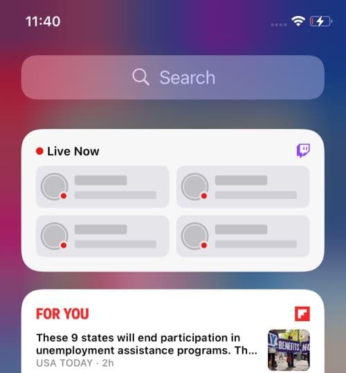 Twitch iOS 14 widget