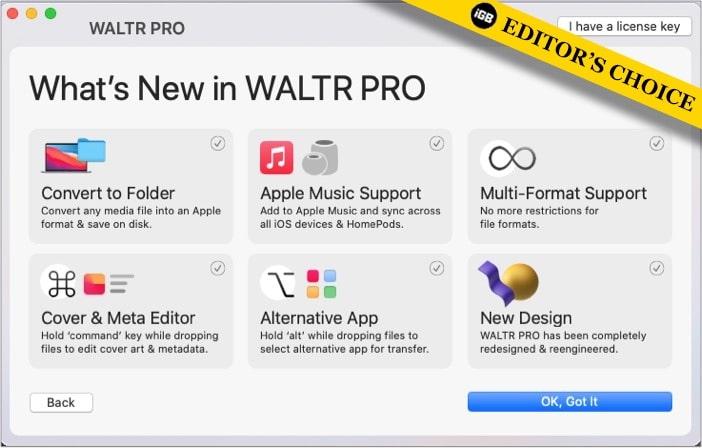 WALTR PRO Mac app screenshot