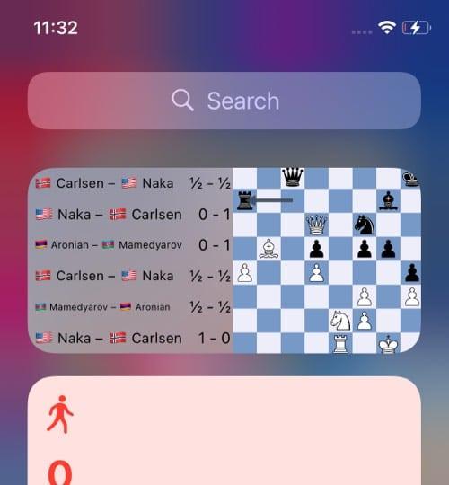 Watch Chess iOS widget