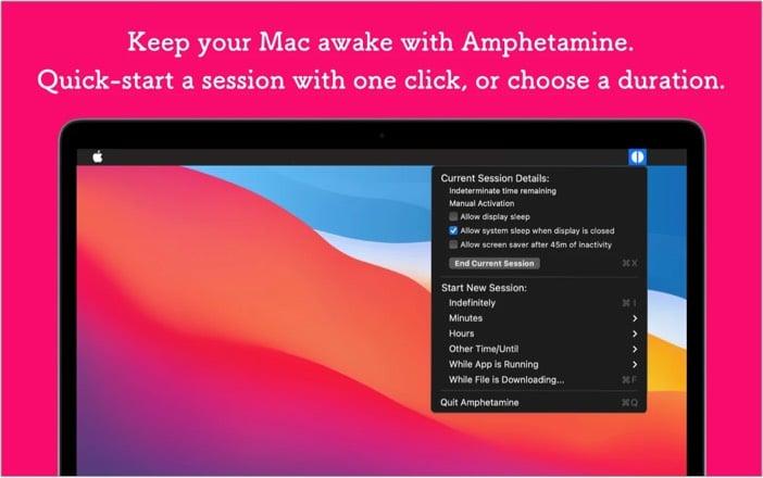 amphetamine mac app screenshot