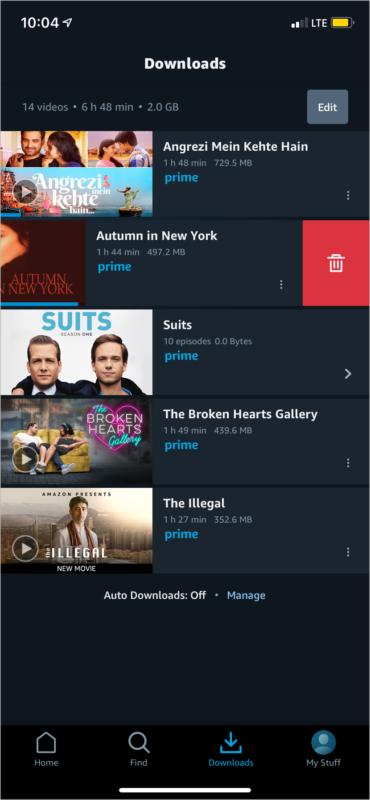 Löschen Sie Downloads von Streaming-Apps