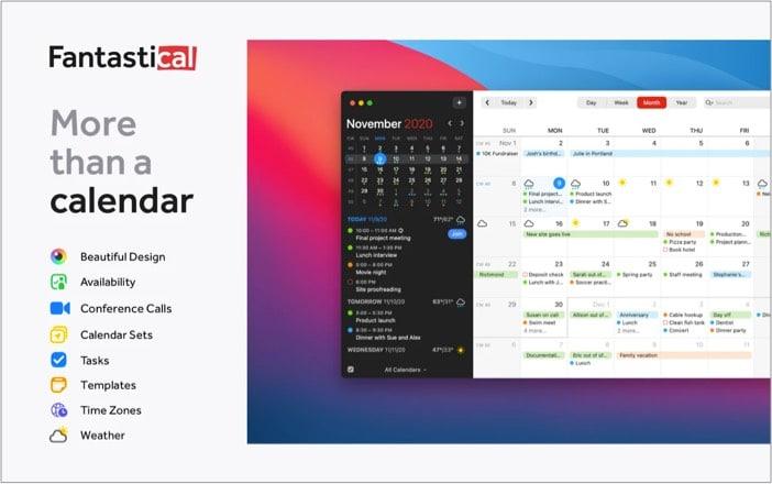 Fantastical Mac app for caledar