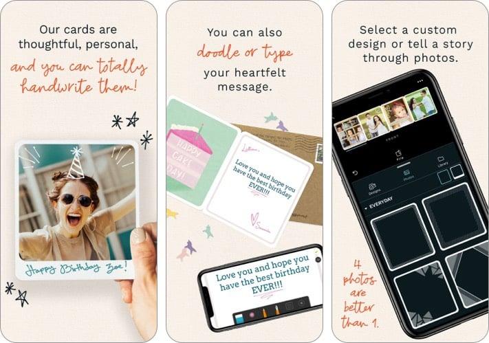 Felt mothers day card iPhone app