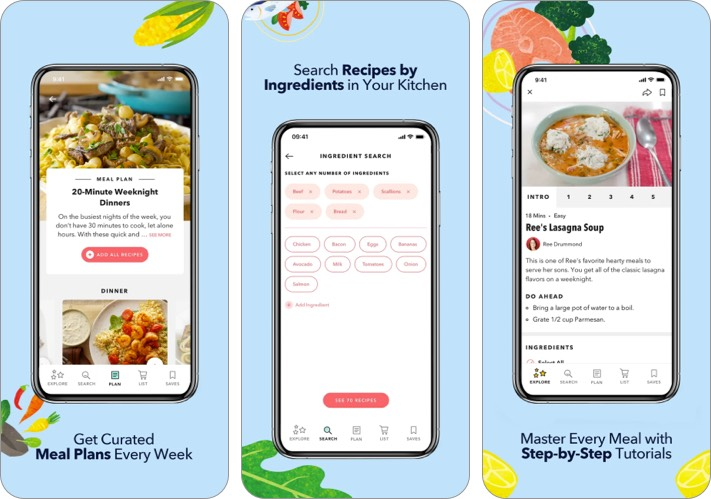 Food network kitchen mothers day cooking app