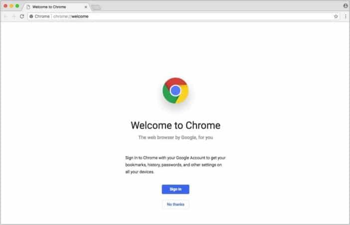 google chrome mac app screenshot