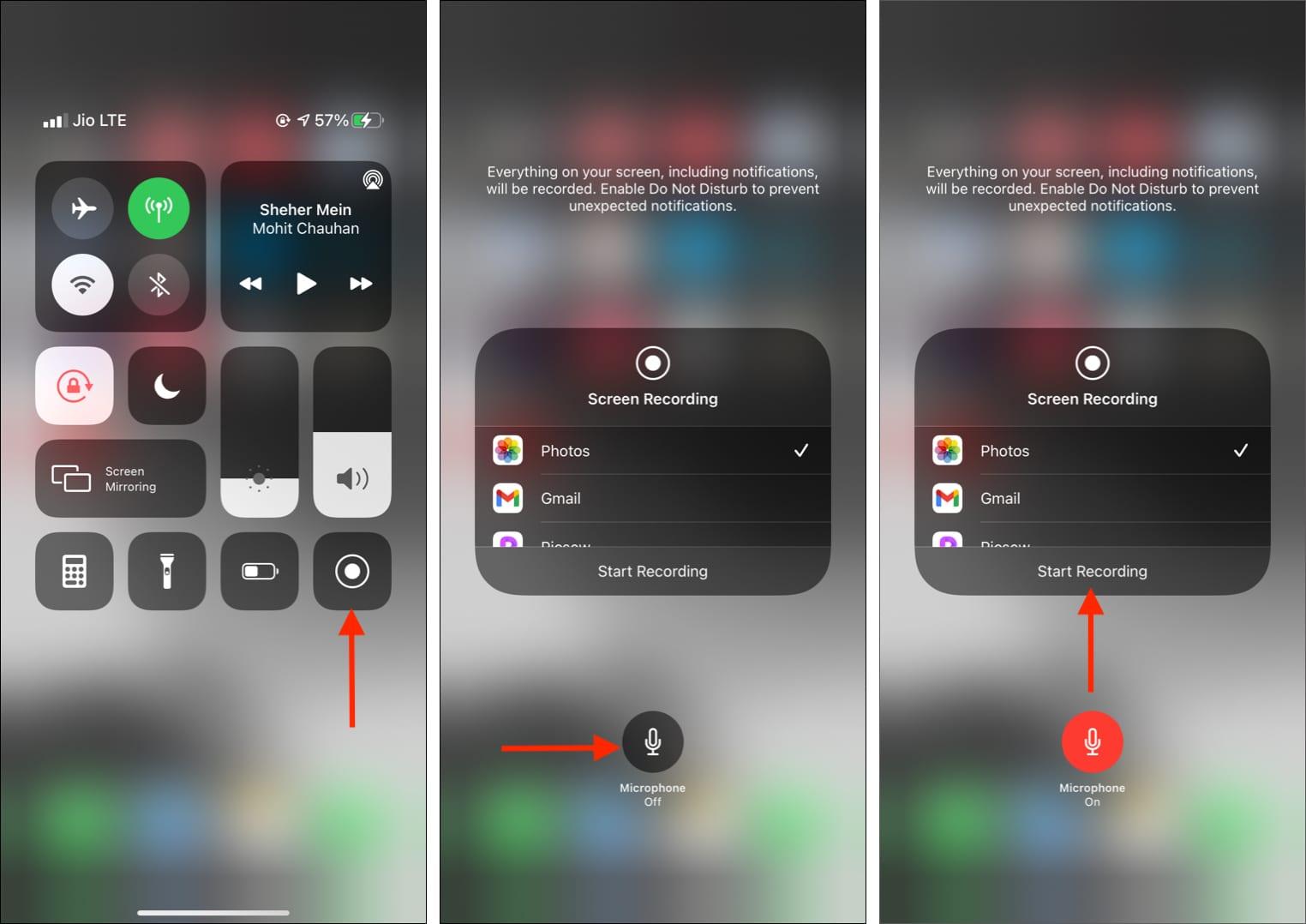 So zeichnen Sie den Bildschirm auf dem iPhone mit externem Audio auf