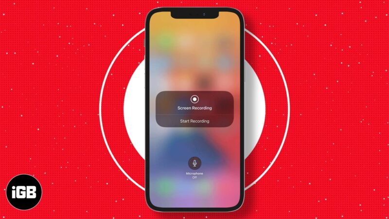 How to screen record on iPhone