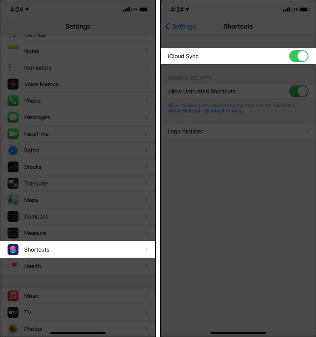 How to sync shortcuts on all your Apple devices