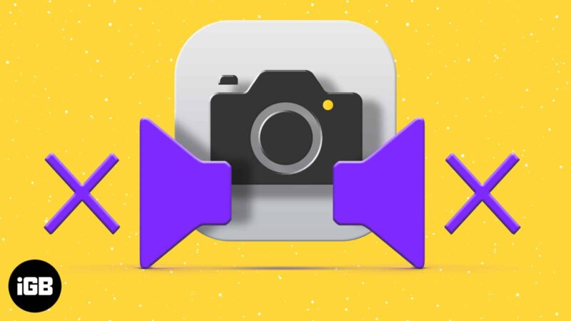 How to turn off camera shutter sound on iPhone