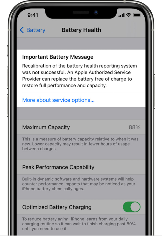If iPhone Battery recalibration fails