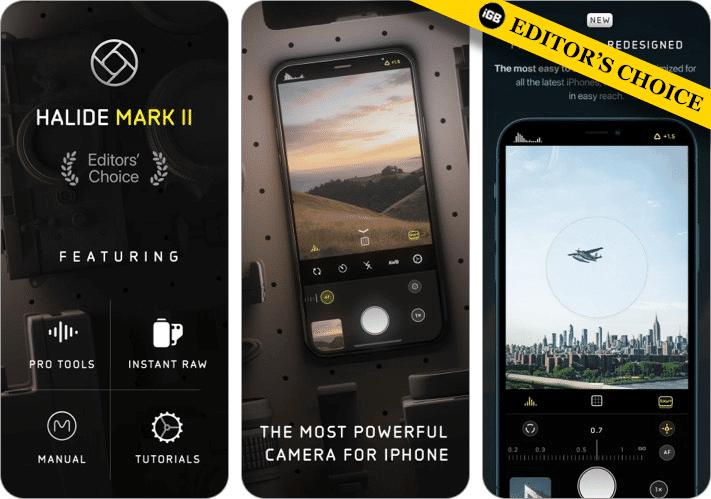 Mark II iPhone camera app screenshot
