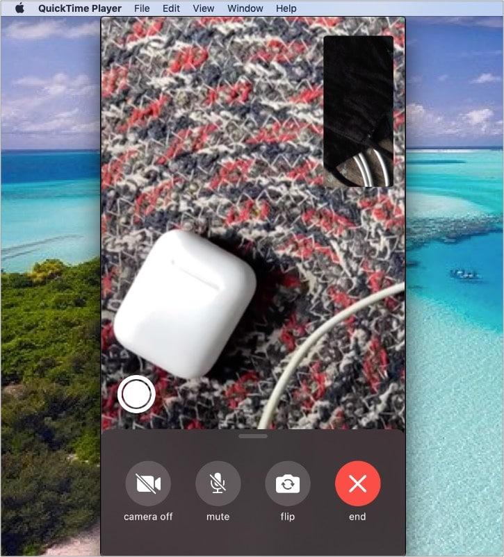 iPhone FaceTime-Anruf wird auf dem Mac aufgezeichnet