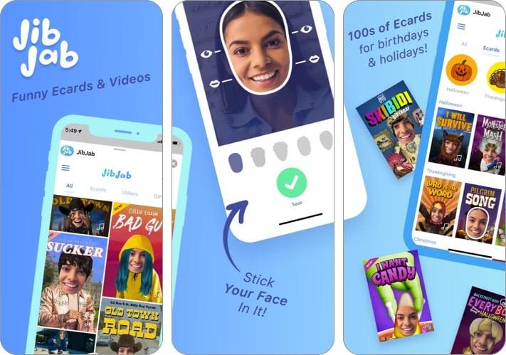 Screenshot der JibJab iMessage-App