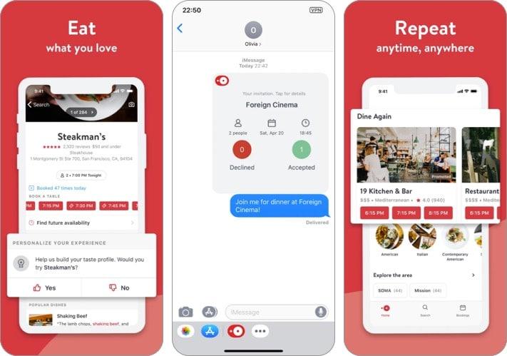 Öffnen Sie den Screenshot der Table iMessage-App