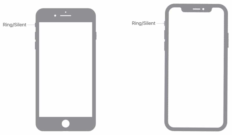 Placement of Ring or Silent Switch on iPhone