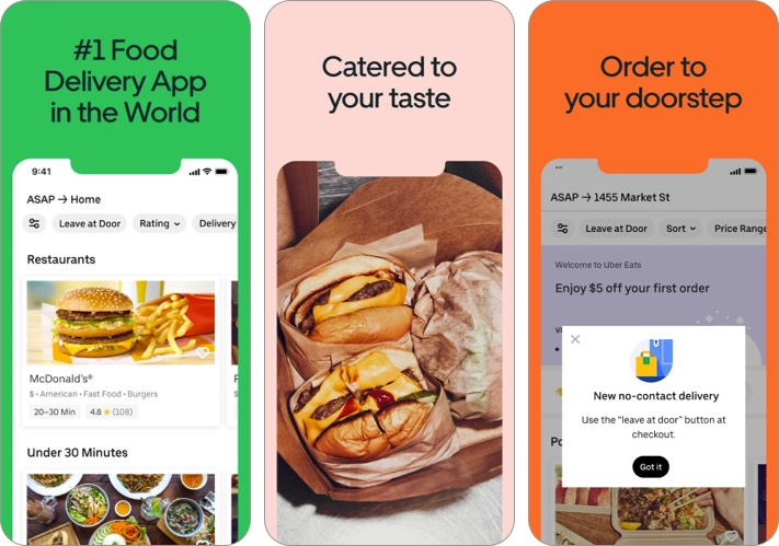 Uber Eats mothers day food delivery app