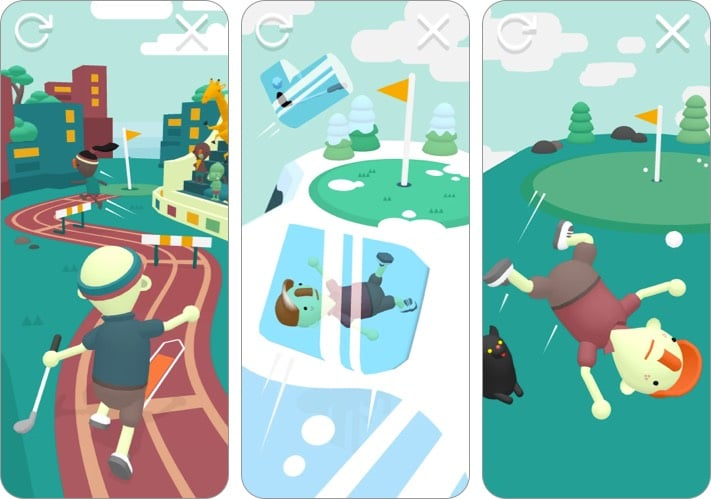 what the golf apple arcade game screenshot