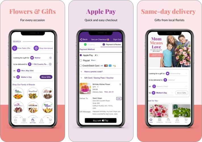1800Flowers gift giving iPhone app screenshot