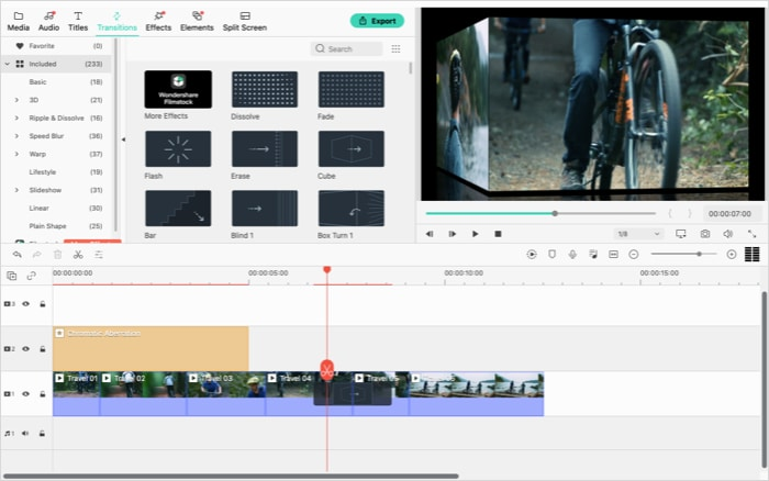 Adding effects to your video in Wondershare Filmora X app