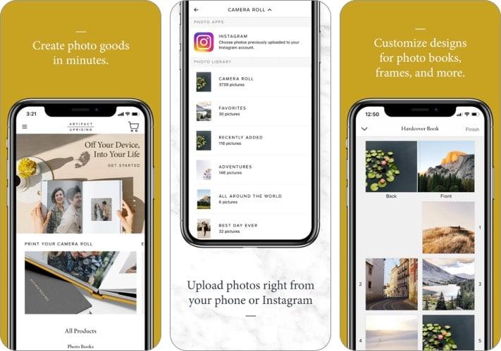 Artifact Uprising iPhone app screenshot
