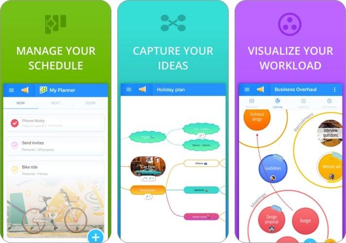 Скриншот приложения Ayoa mind mapping