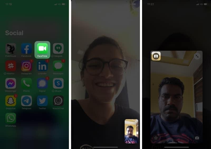 Verwischen Sie den Hintergrund in einem Videoanruf in FaceTime in iOS 15