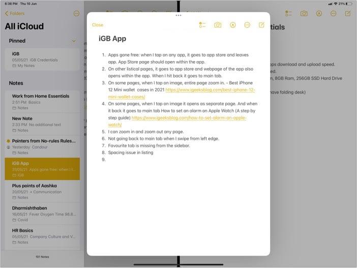 Center window for multitasking in iPadOS 15