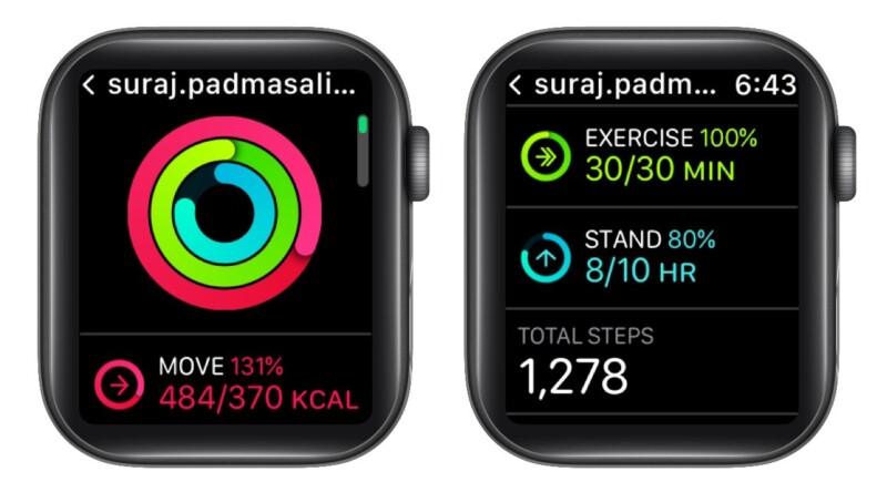 Check your friend's progress from Apple Watch