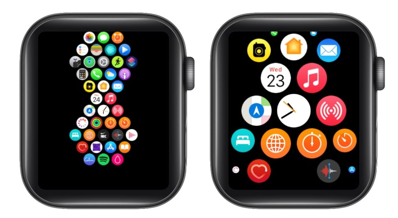 Concentrate on the center for apps on Apple Watch