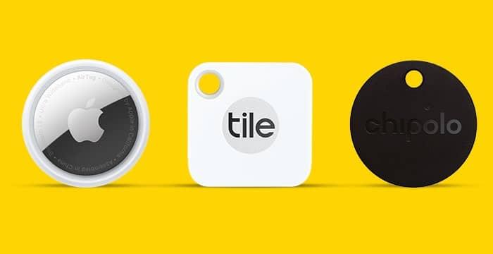 Design of AirTag vs. Tile Mate vs. Chipolo