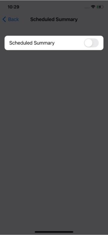 Отключить сводку уведомлений в iOS 15 на iPhone