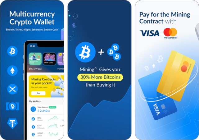 ECOS invest in crypto assets iPhone and iPad App