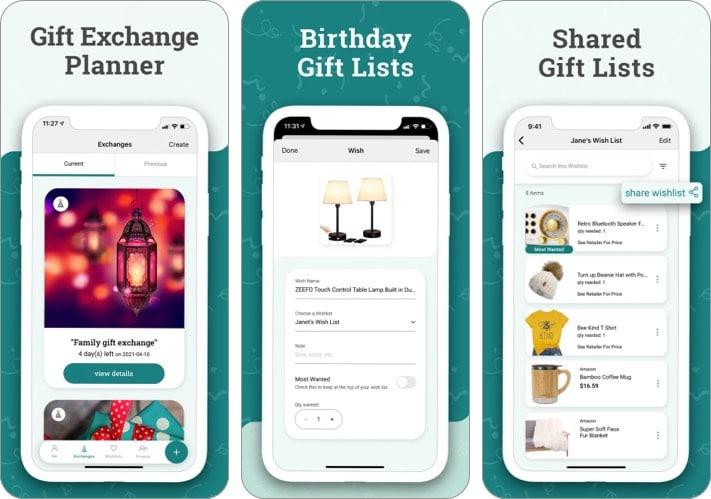 Elfster gift planning iPhone app screensht