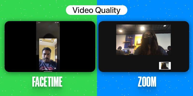 FaceTime Vs.  Zoom Качество видео