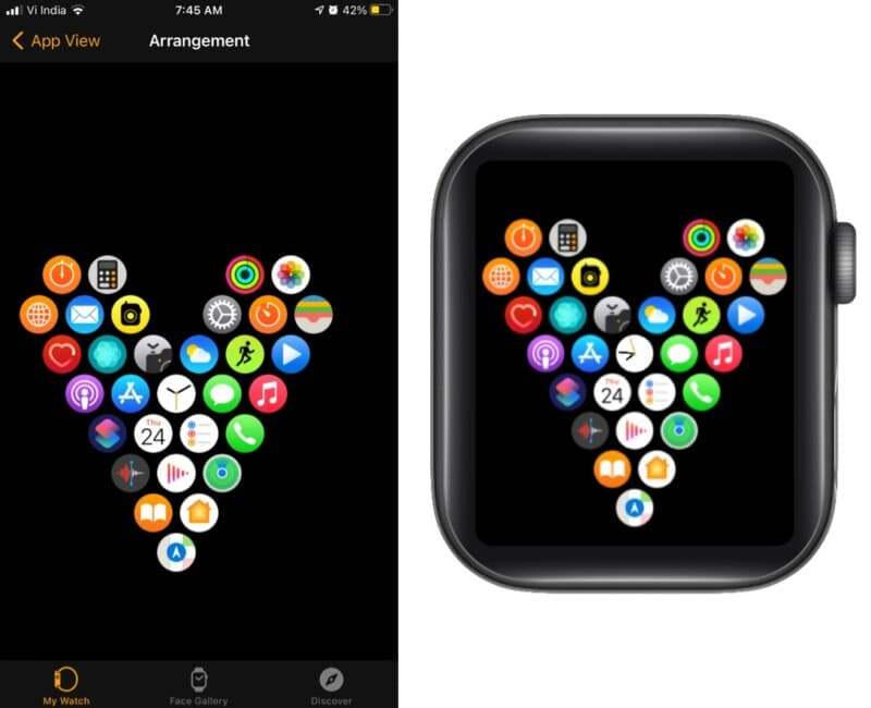Home with heart on Apple Watch
