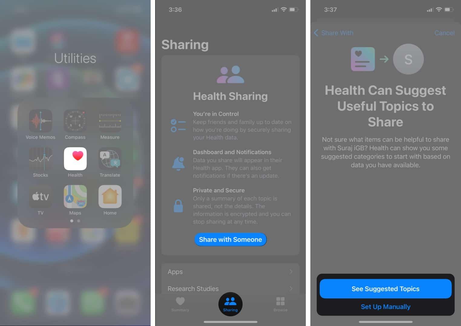 So aktivieren Sie die Freigabe von Apple-Gesundheitsdaten unter iOS 15