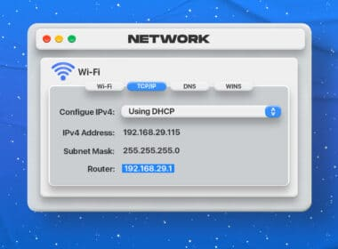 How to find a router IP address on Mac