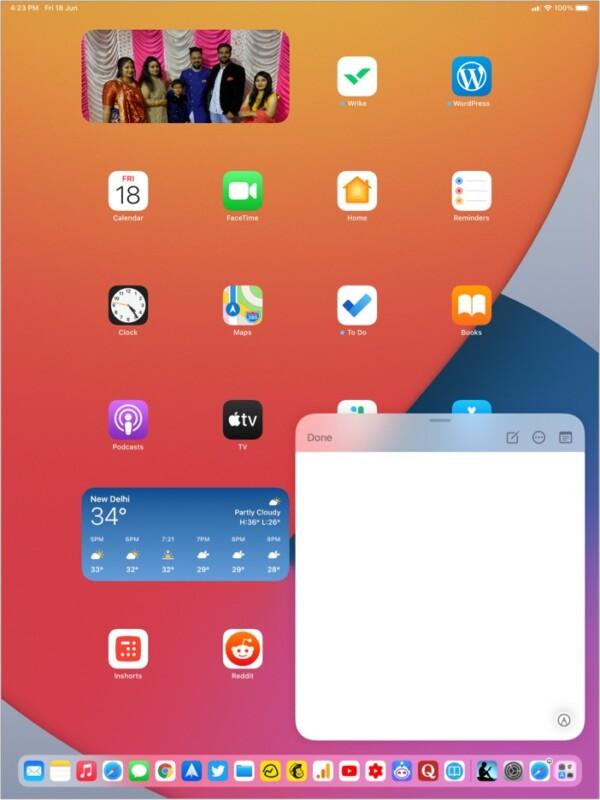 So öffnen Sie eine Quick Note auf dem iPad
