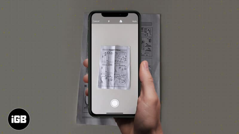 How to scan documents on iPhone with Notes