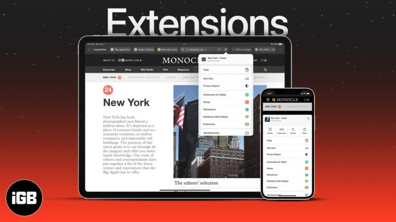 How to use Safari extensions on iPhone in iOS 15