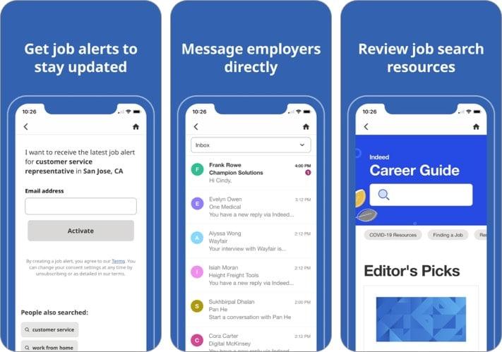 Indeed best job search apps screenshot