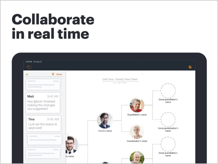 LucidChart mind mapping для ipad, снимок экрана