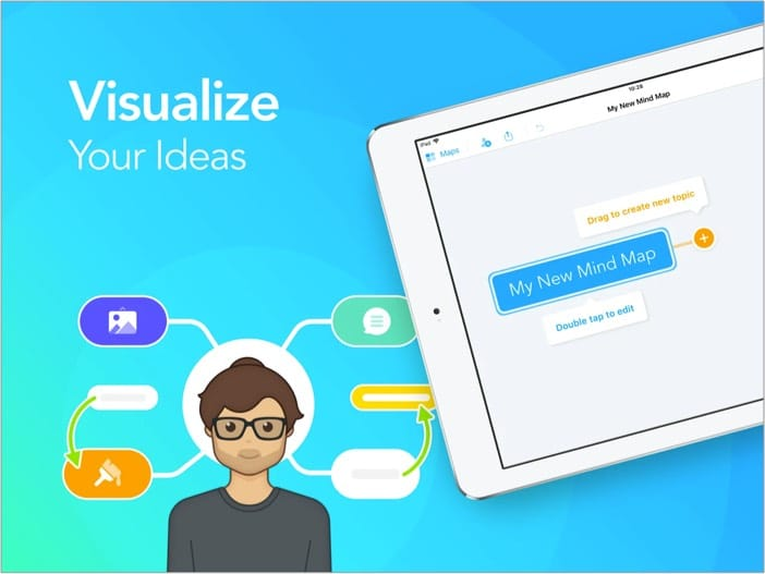 Mind Mapping - скриншот приложения MindMeister для ipad